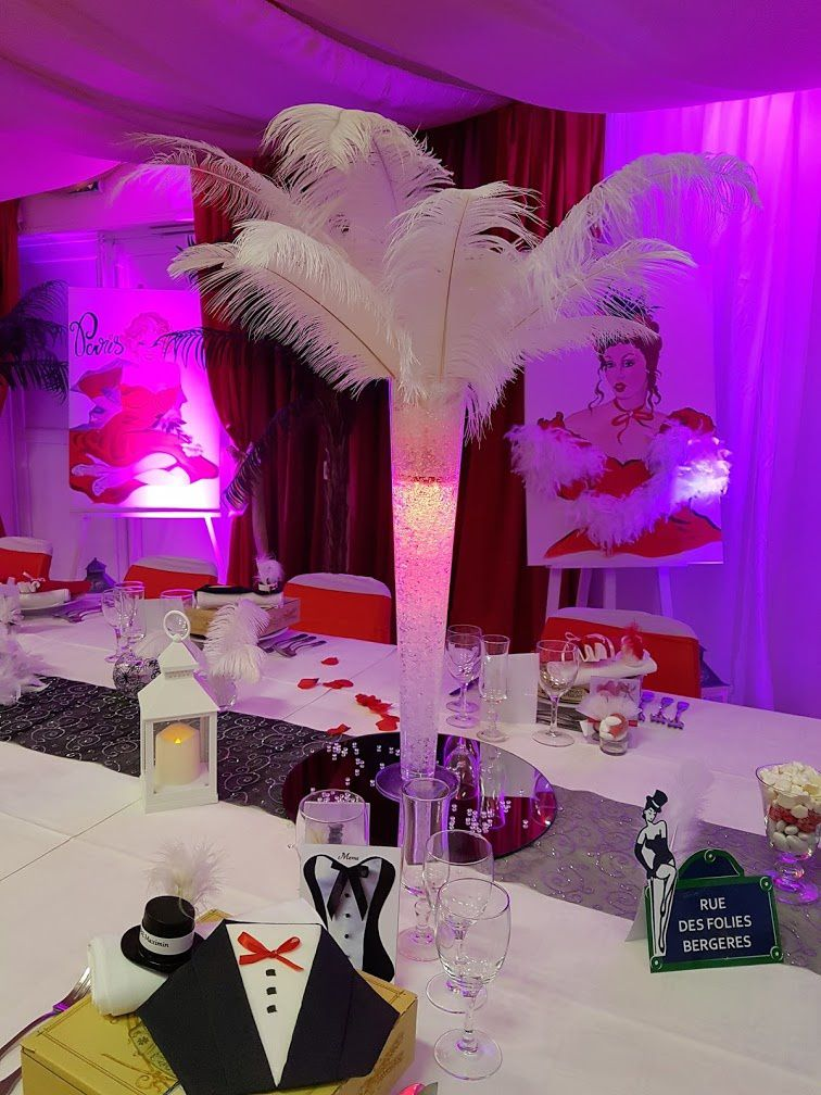 decorations mariages theme cabaret evenementiel theme cabaret decoratrice mariage festidomi. Black Bedroom Furniture Sets. Home Design Ideas