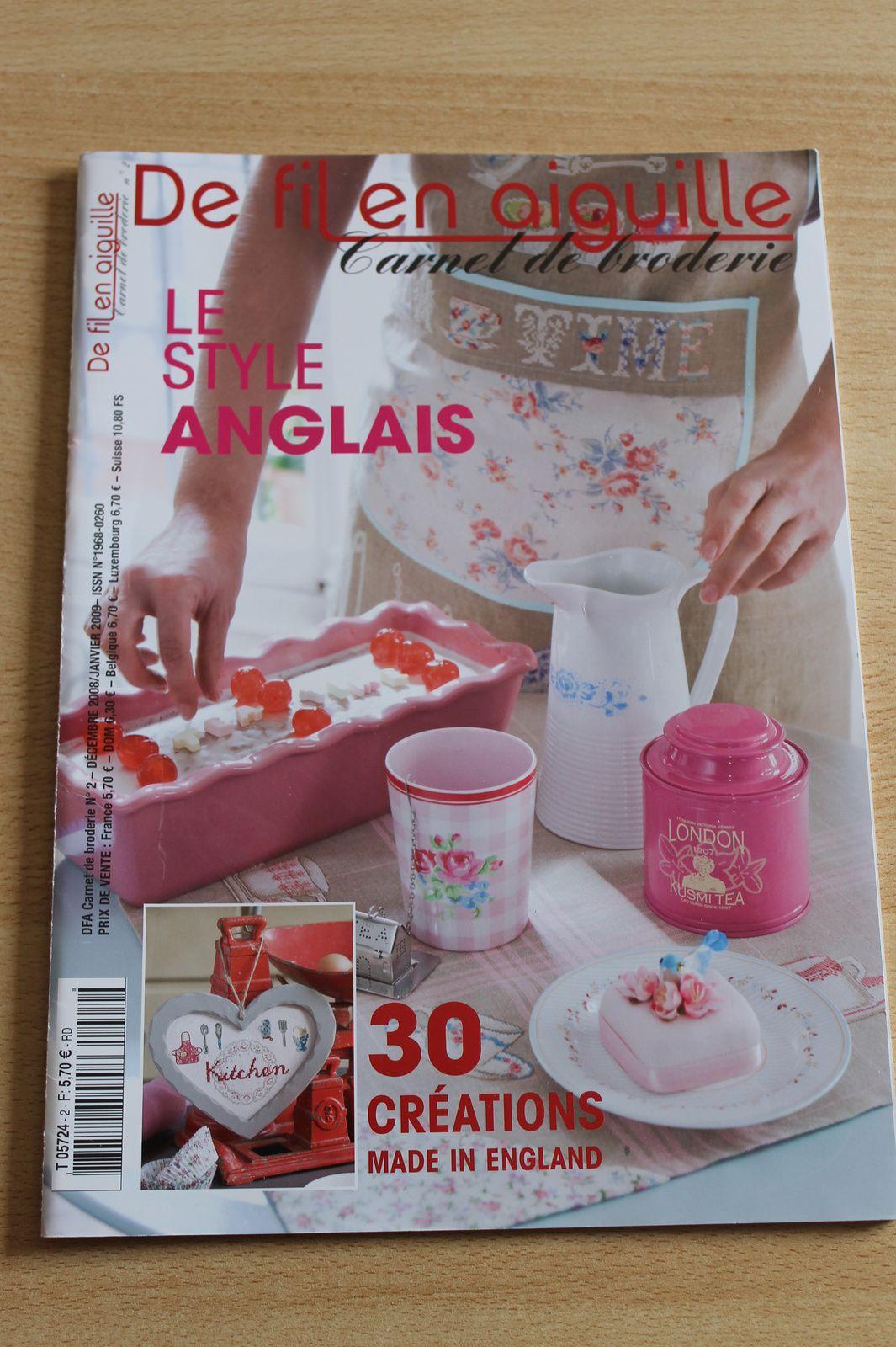"""De fil en aiguille spécial """"Carnet de broderie n°2 décembre 2008/janvier 2009"""