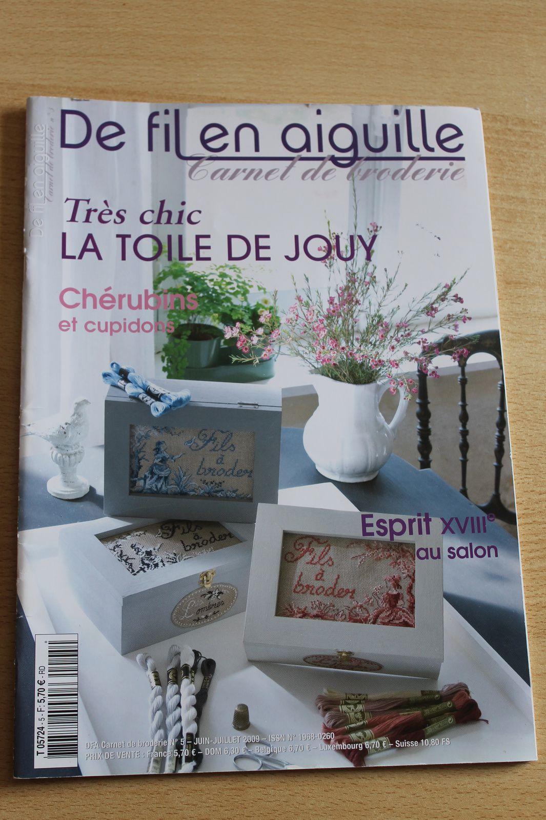 De fil en aiguille spécial Carnet de Broderie n°5 juin-juillet 2009