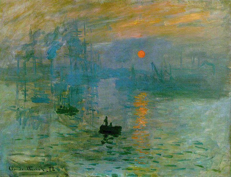 Impression, soleil levant, Claude Monet, 1872 (musée Marmottan)
