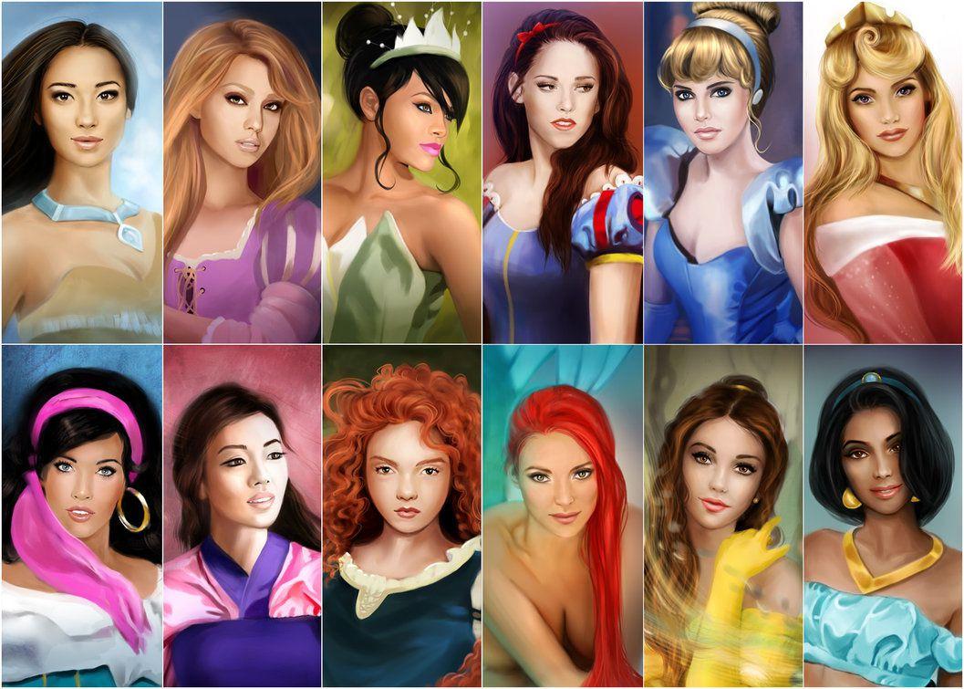 Et si les princesses étaient humaines...ou même des actrices? Les reconnaissez-vous?