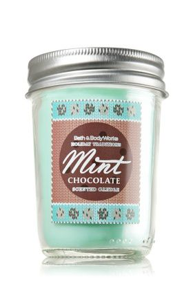 Chandelle à la menthe et au chocolat  Bath and body works 12,50$