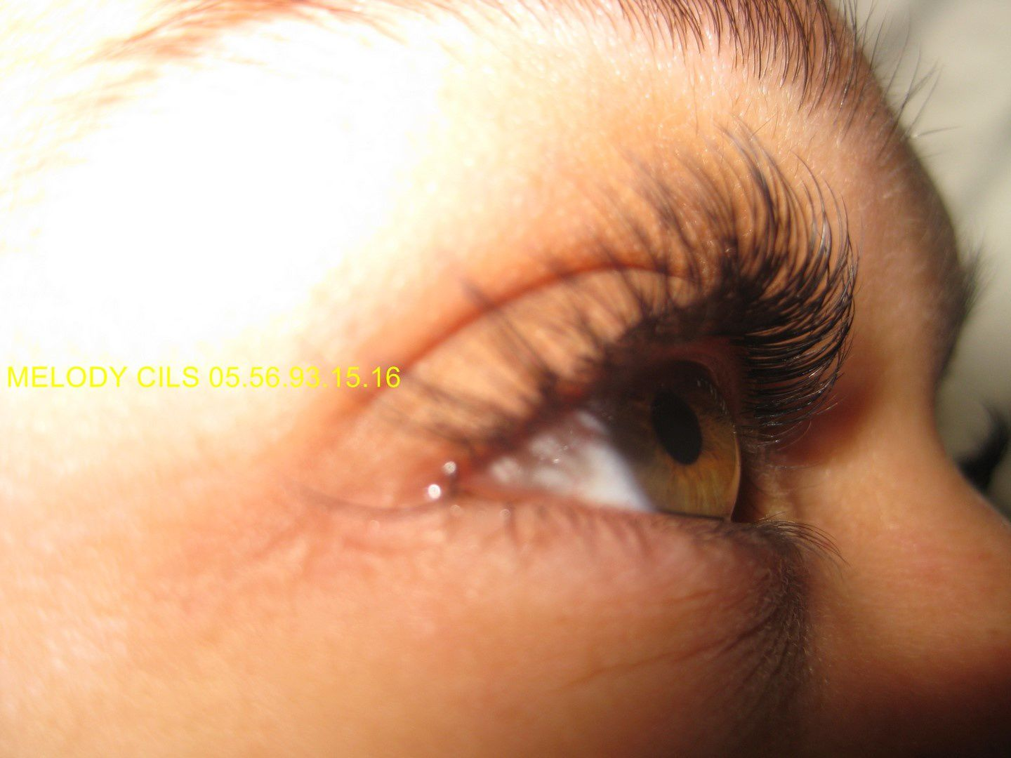 extension de cils avant
