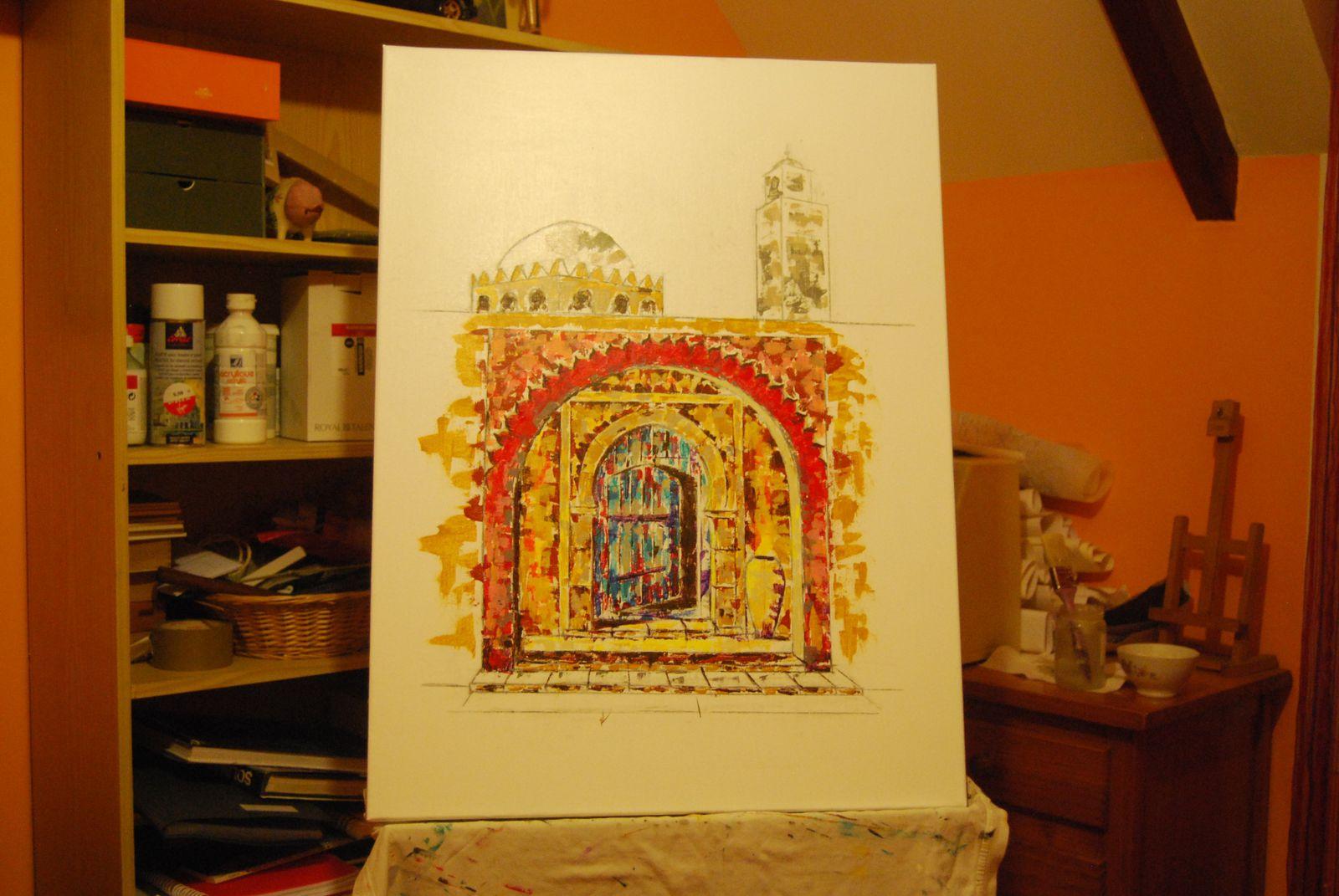 Tableau Porte Orientale Rouge Tableaux Peintures
