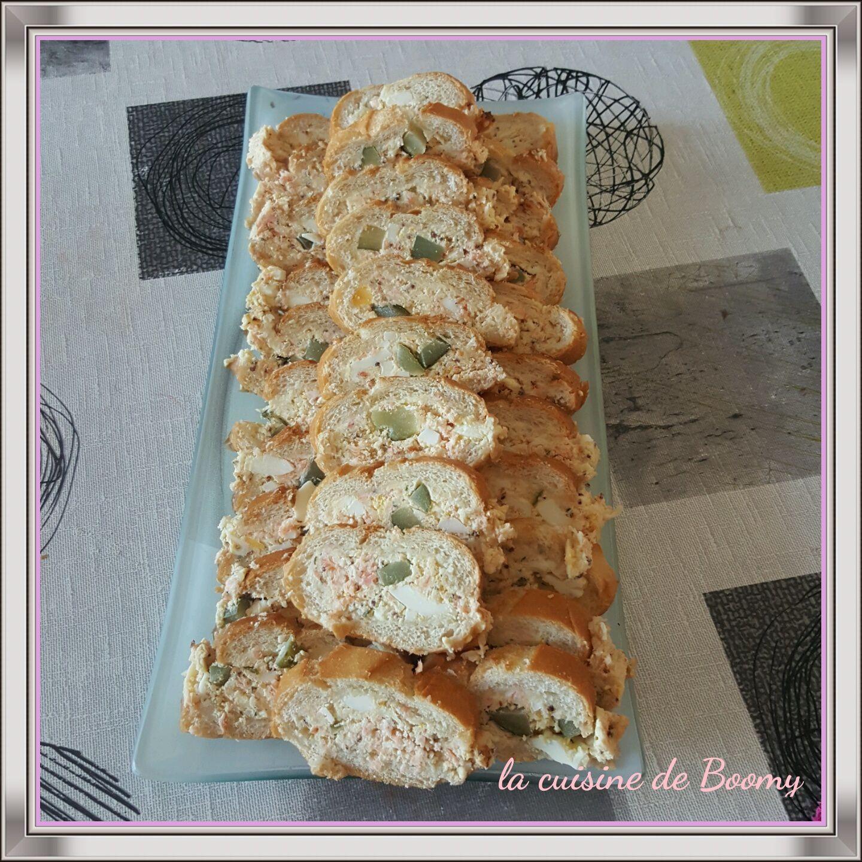 Baguette surprise au saumon