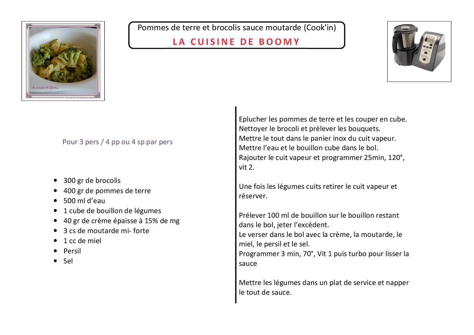 Pommes de terre et brocolis sauce moutarde cook 39 in la cuisine de boomy - Pommes de terre a la braise ...