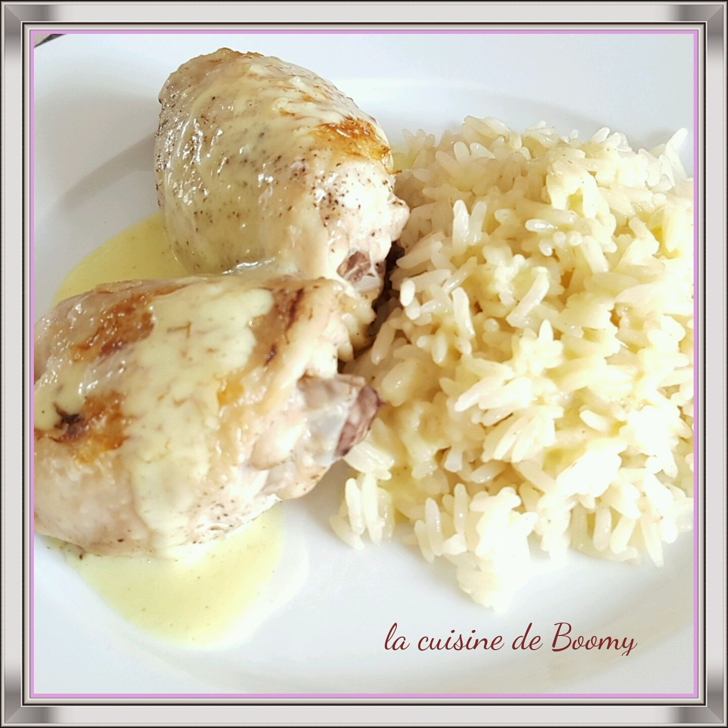 Cuisse de poulet sauce moutarde / curry au cook'in