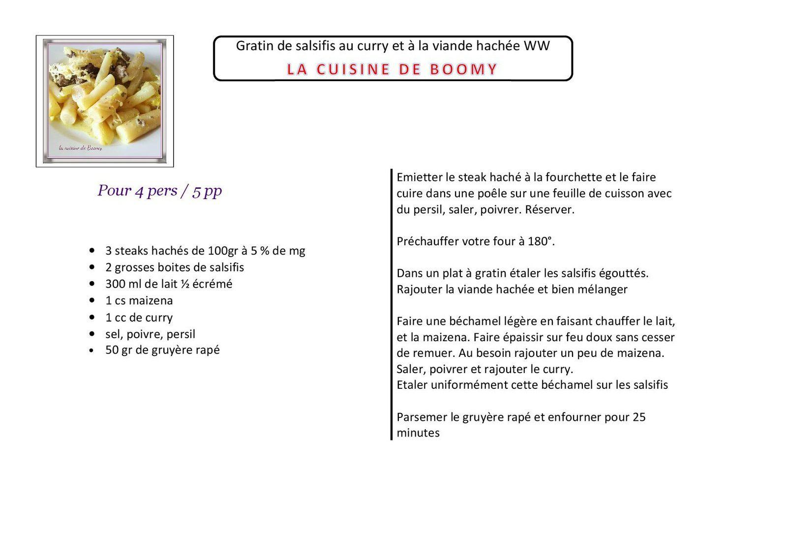 Gratin de salsifis au curry et à la viande hachée WW