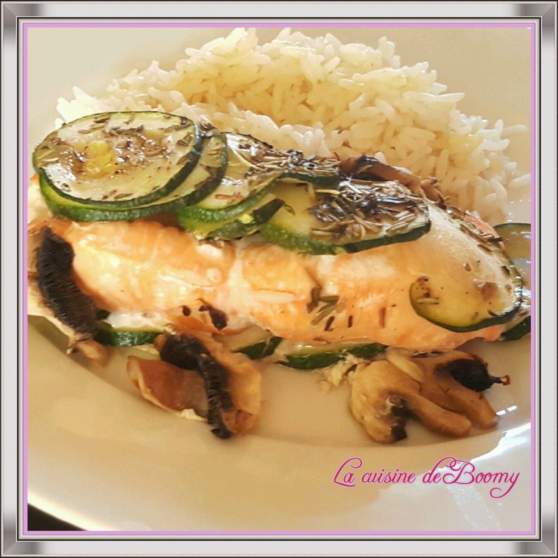 Papillote de saumon aux légumes ww