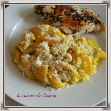 Risotto aux courgettes et au curry WW