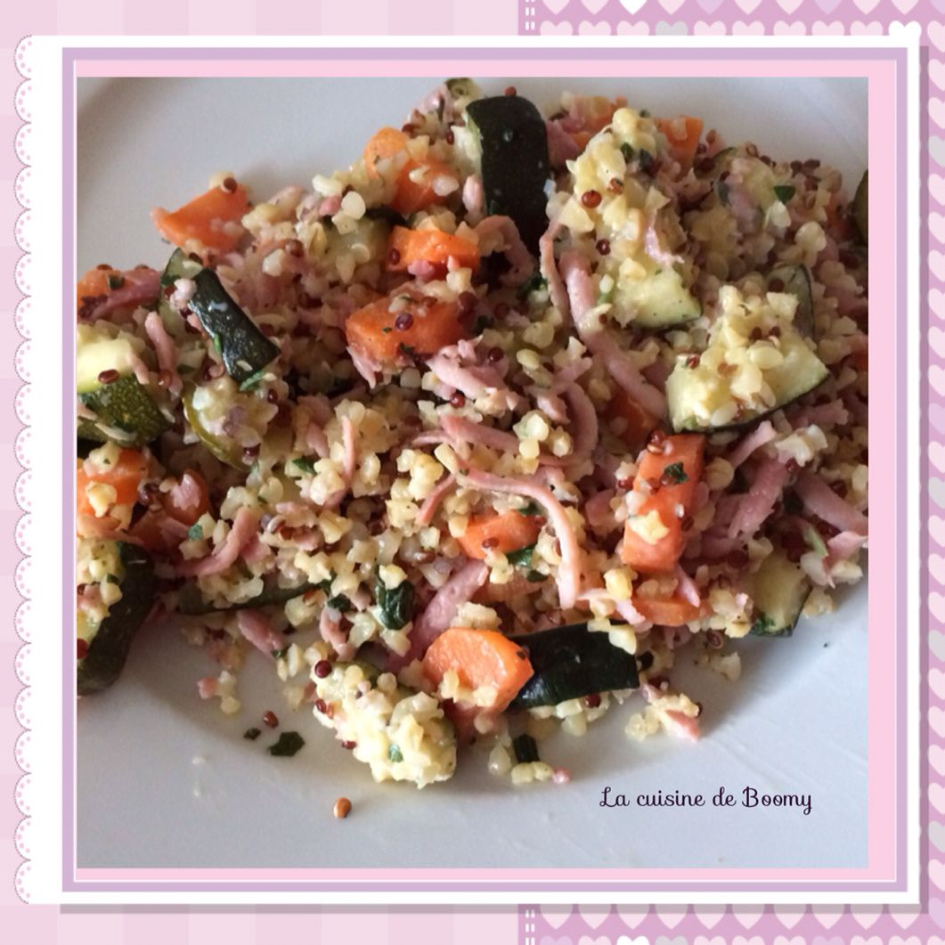 Poêlée de quinoa aux légumes et aux râpé de jambon WW