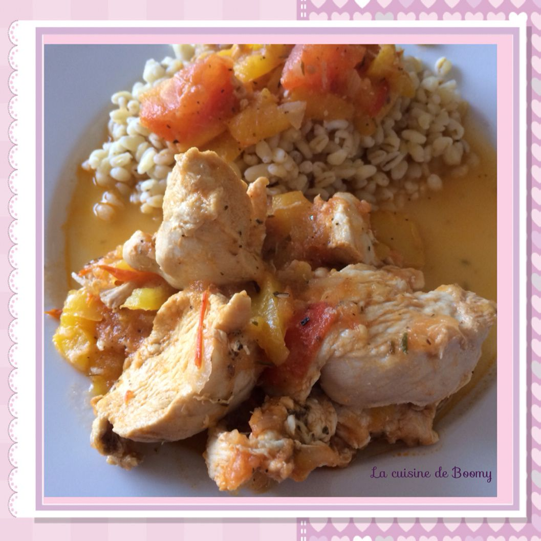 Poulet basquaise au Cook'in WW