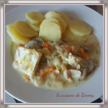 Blanquette de cabillaud  (Cook'in )