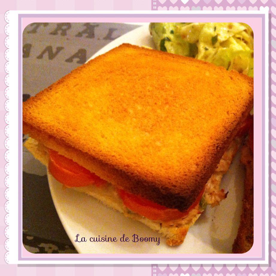 Croque-monsieur au thon WW