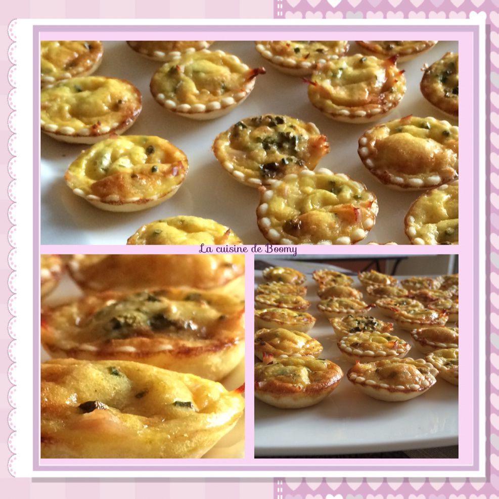 Minis quiches  poulet/curry