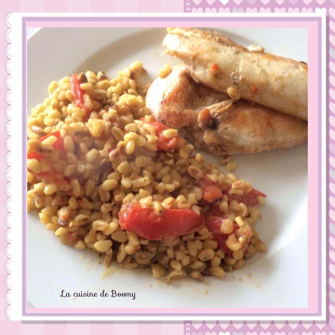 Filet de poulet et son blé parfumé