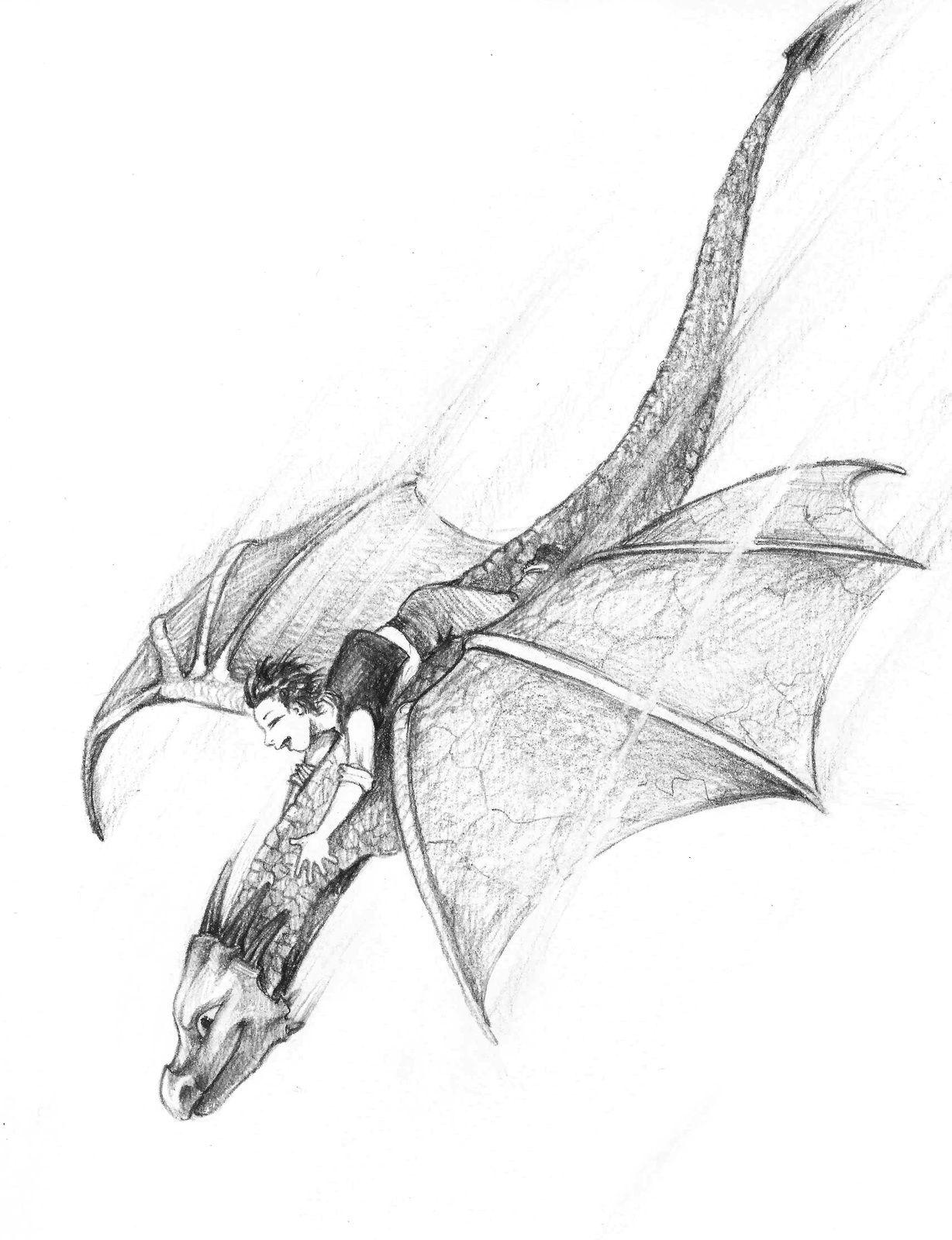 Clément et le dragon, en vol au-dessus des montagnes