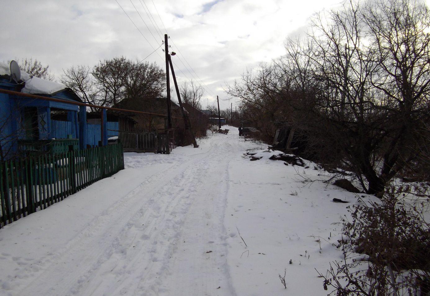 Улица Чернянка (notre rue)  au début de la neige