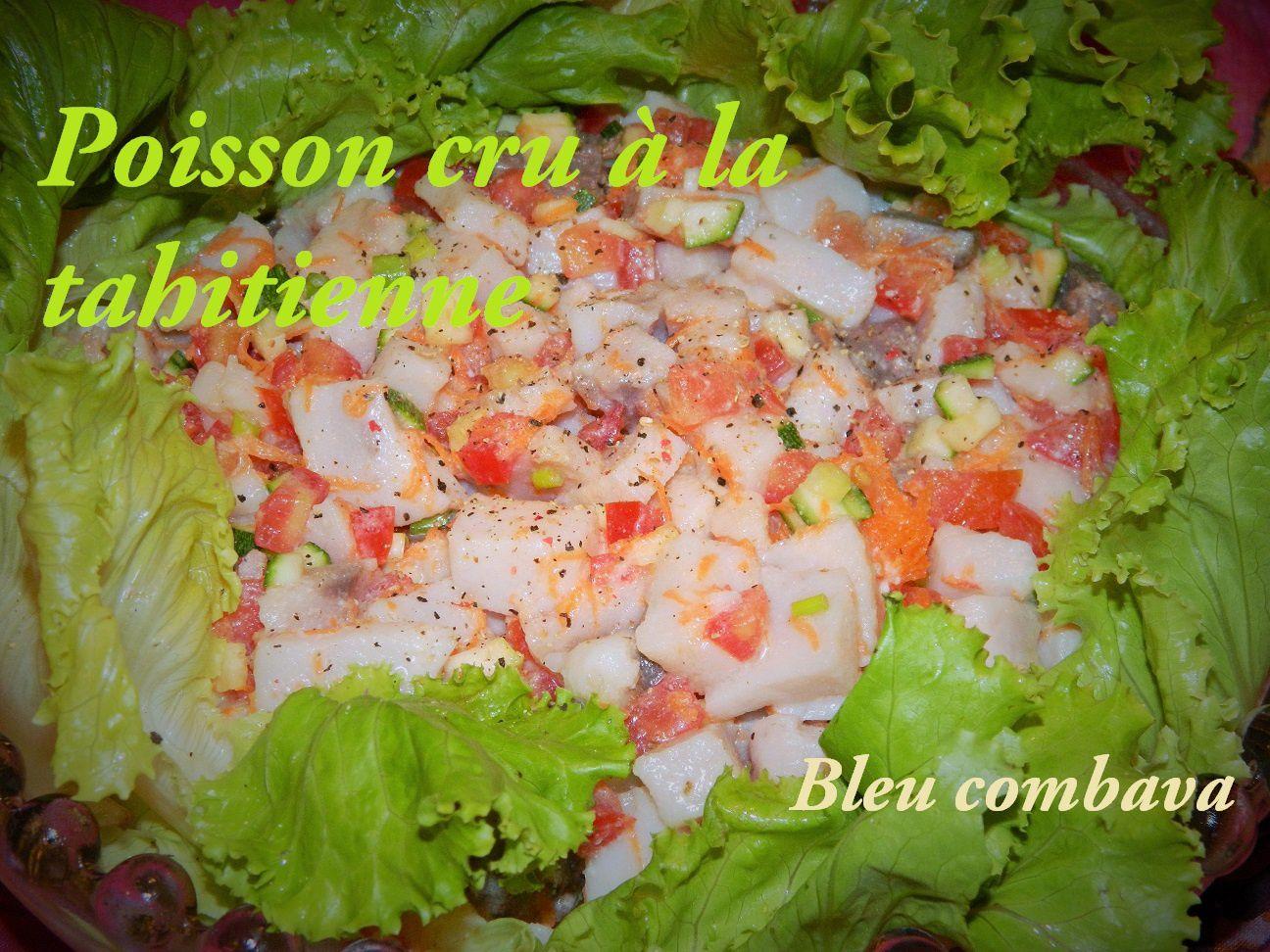 espadon façon poisson cru à la tahitienne - ma cuisine bleu combava