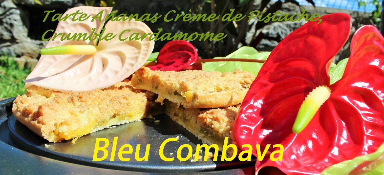 Tarte Victoria à la Crème de Pistache et son Crumble Cardamome