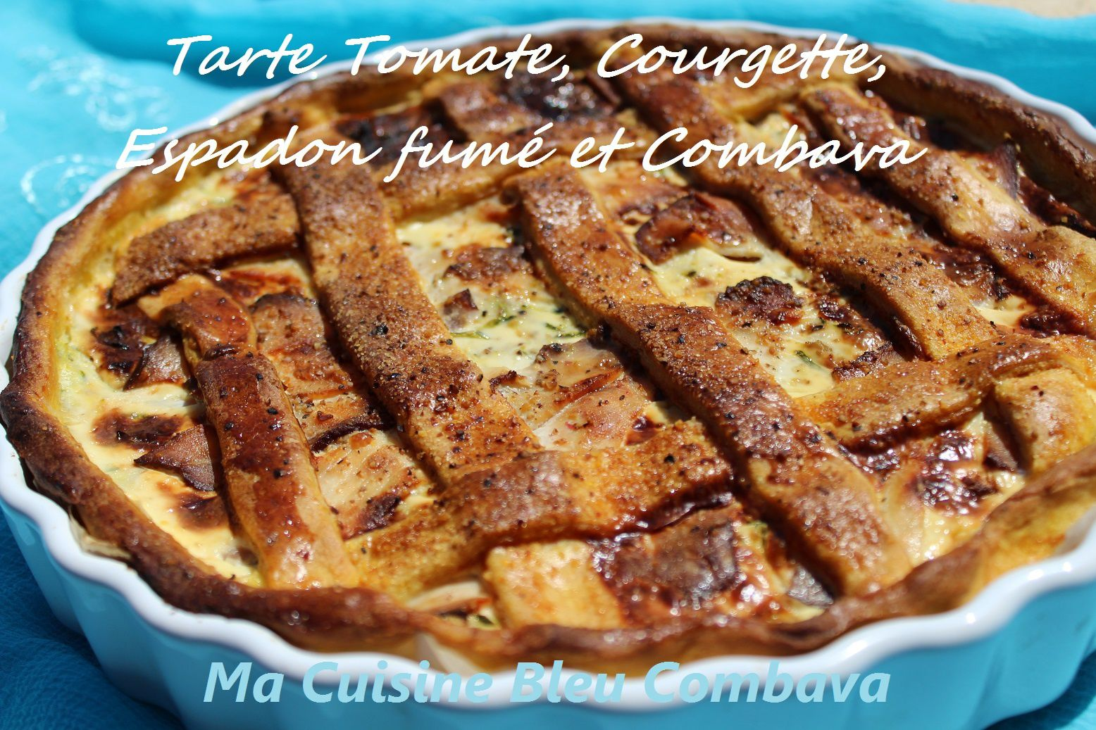 tarte tomate courgette et espadon fum 233 p 226 te curcuma combava ma cuisine bleu combava