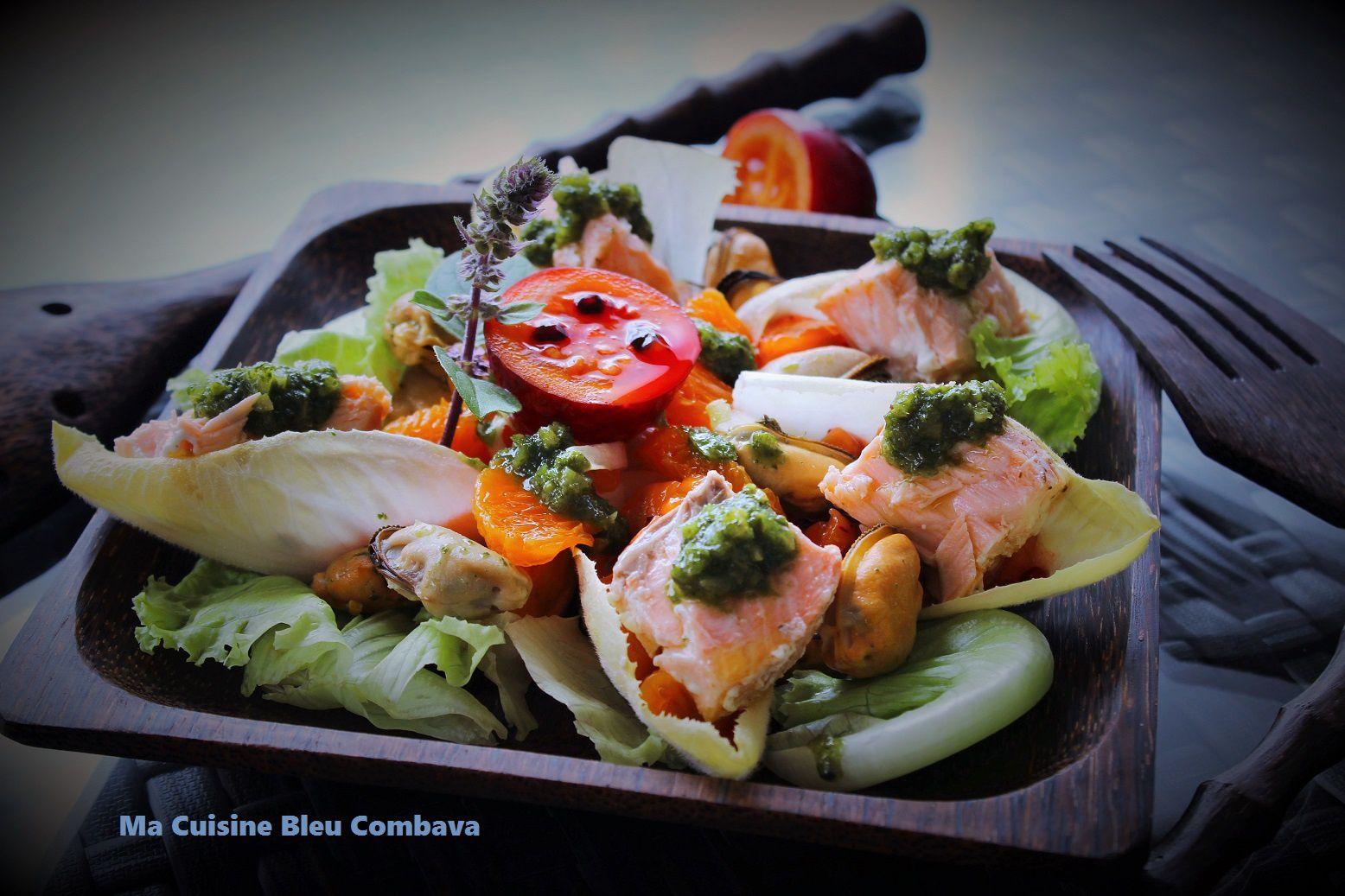 Salade Océane, Pesto Basilic-Citron Confit