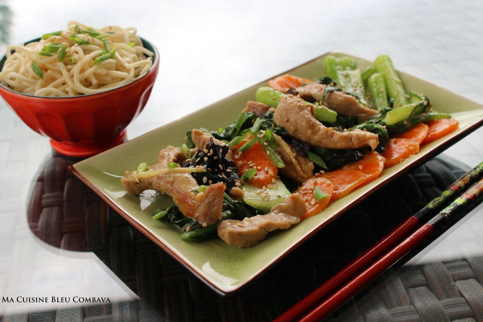 Porc saut aux brocolis chinois bok choy et aux for Cuisine un chinois