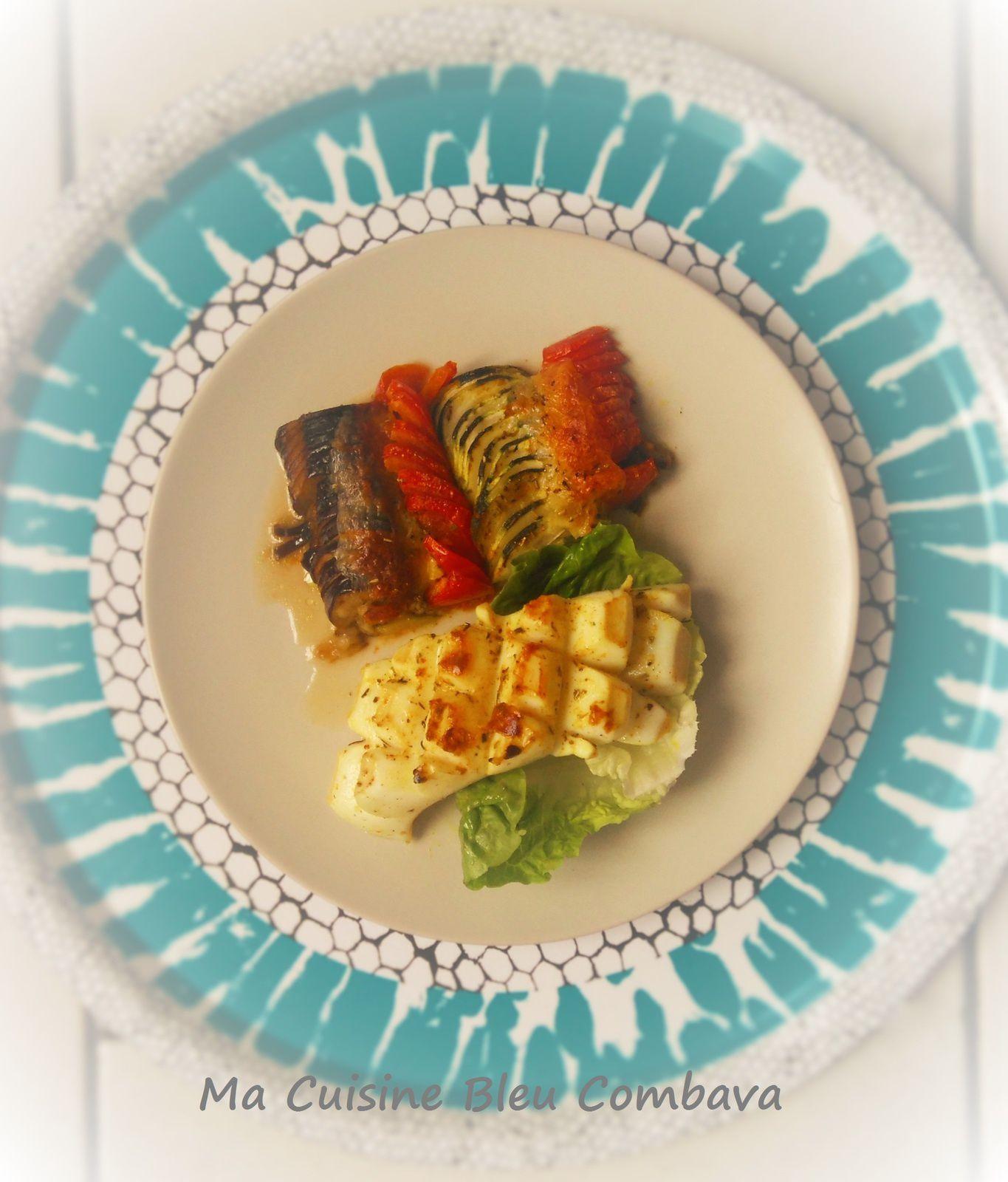 Steaks de Calamars grillés au Curry