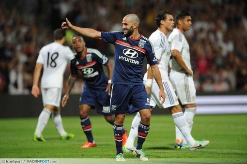 La joie de Lisandro Lopez qui a inscrit le 2ème but
