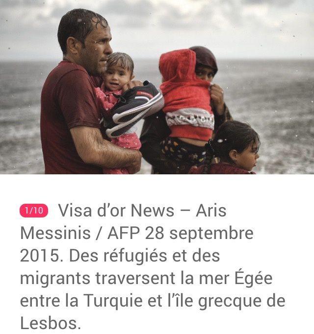 """Perpignan : Visa d'Or """"News"""" 2016 récompense un travail sur les migrants à Lesbos, signé Aris Messinis"""