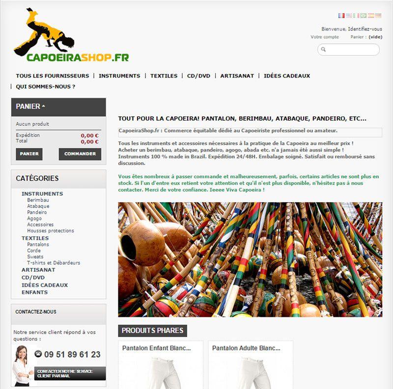 Capoeirashop.fr : La boutique en ligne dédiée au capoeiriste !
