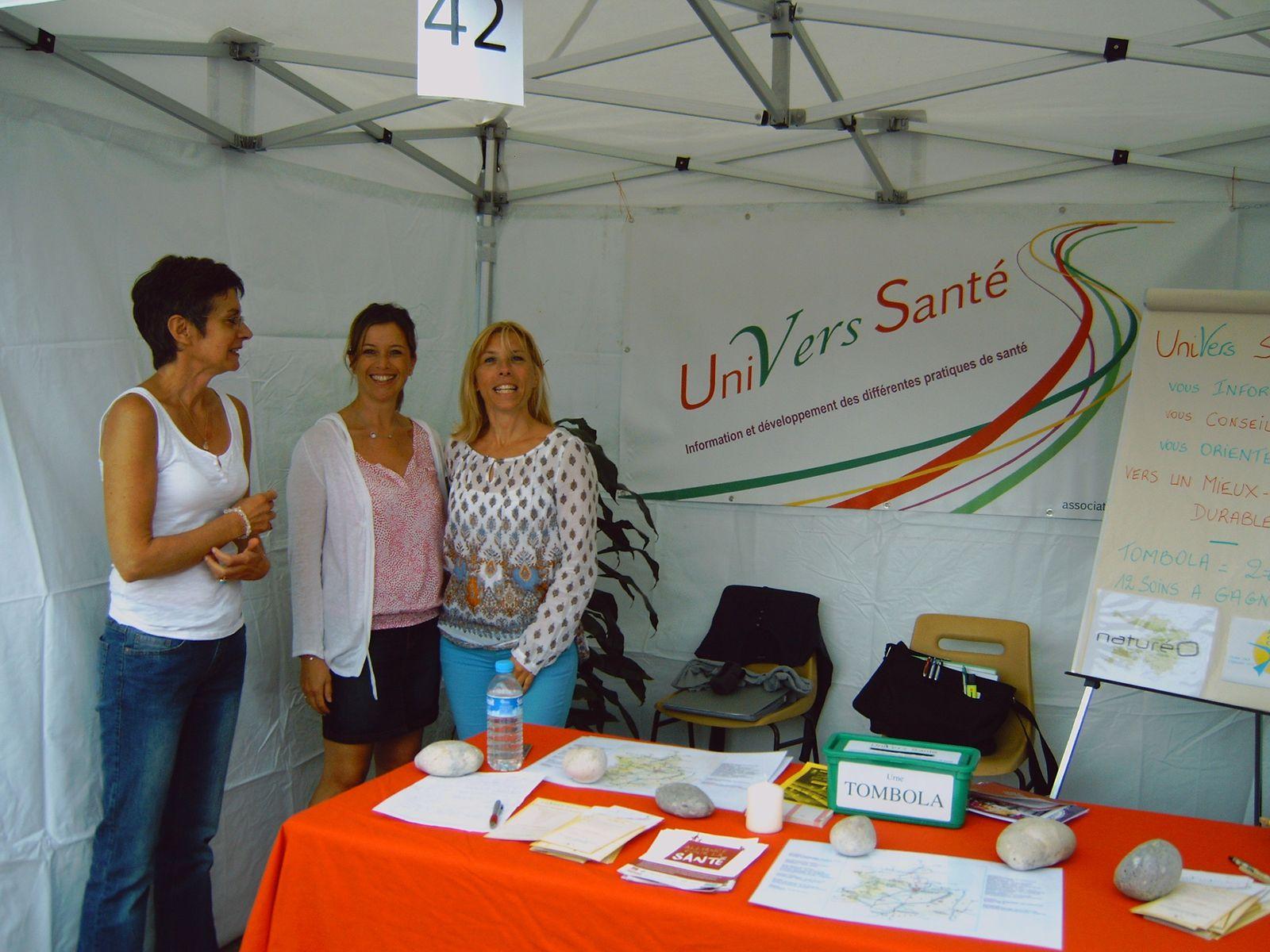 Samedi 7 septembre 2013 : De gauche à droite Nelly Forget, Florence Hériveaux et Edwige Etienne