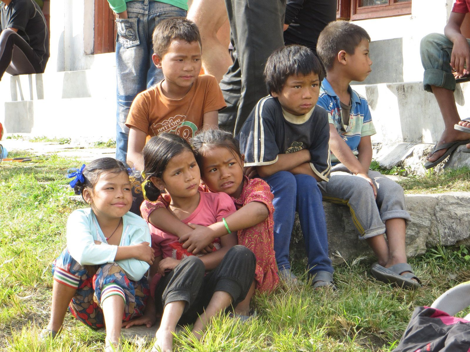 Melamchipul, enfants à Karthali et dans les rizières