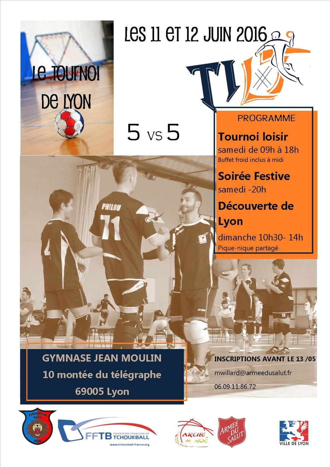 LE TOURNOI INTERNATIONAL DE TCHOUKBALL DE LYON A LIEU CE WEEK-END