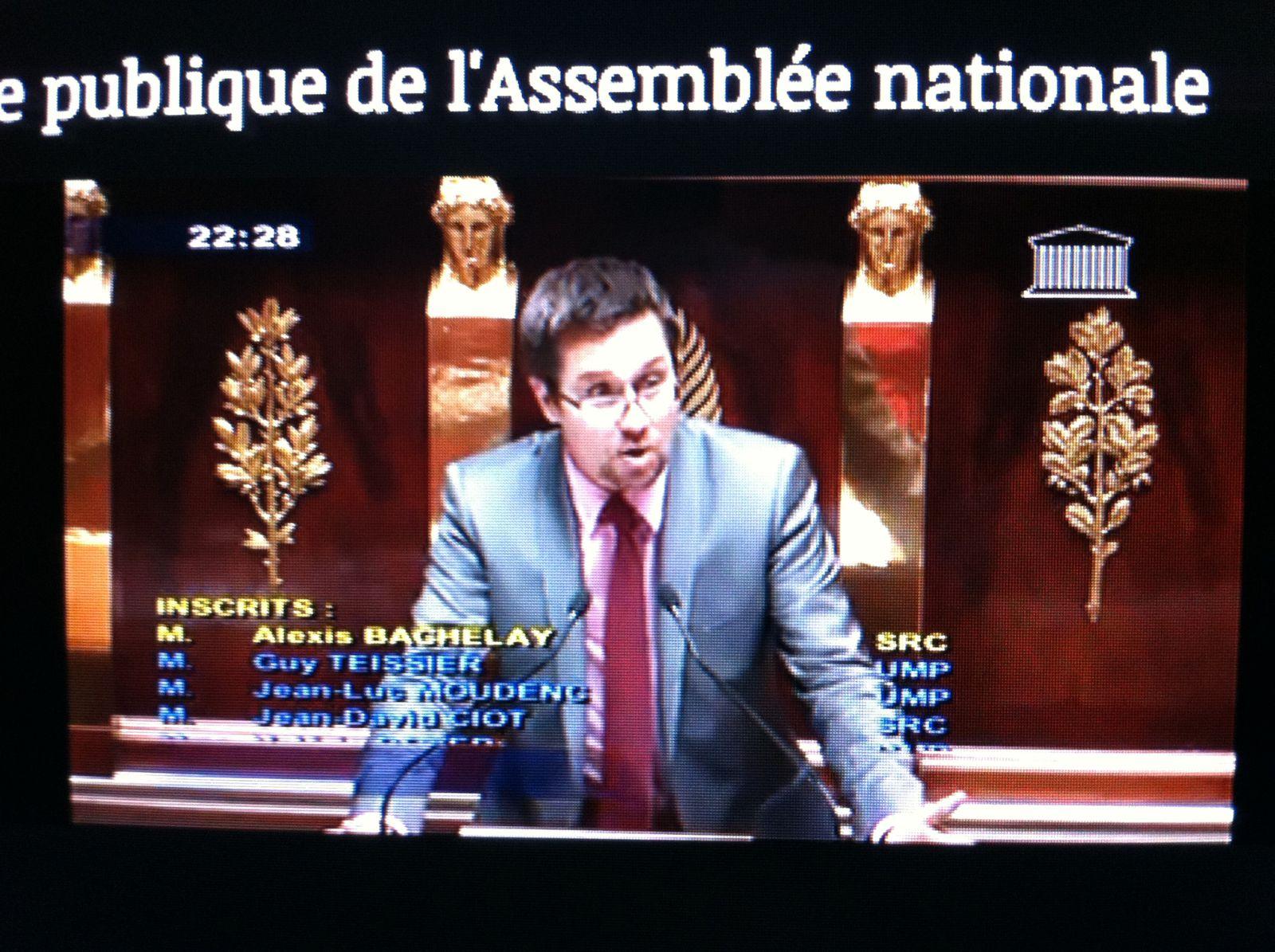 ALEXIS BACHELAY A L'ASSEMBLEE NATIONALE