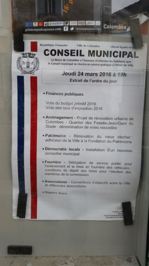 LES TAPS SERONT PAYANTS A COLOMBES : PROMESSE TENUE DU MAIRE LR NICOLE GOUETA