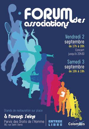 Forum des associations à Colombes les 2 et 3 septembre avec la présence de votre asso citoyenne : lecolombesquejaime.fr