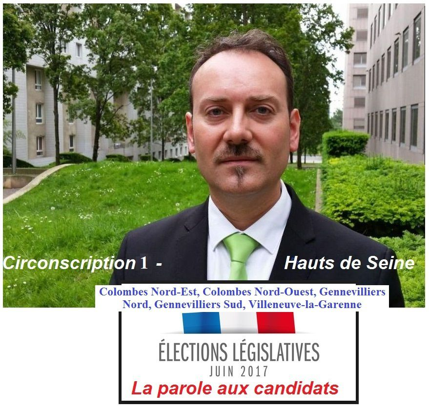 Election législatives Circonscription 1 Colombes- Nord / Gennevilliers / Villeneuve la Garenne : la parole aux candidats