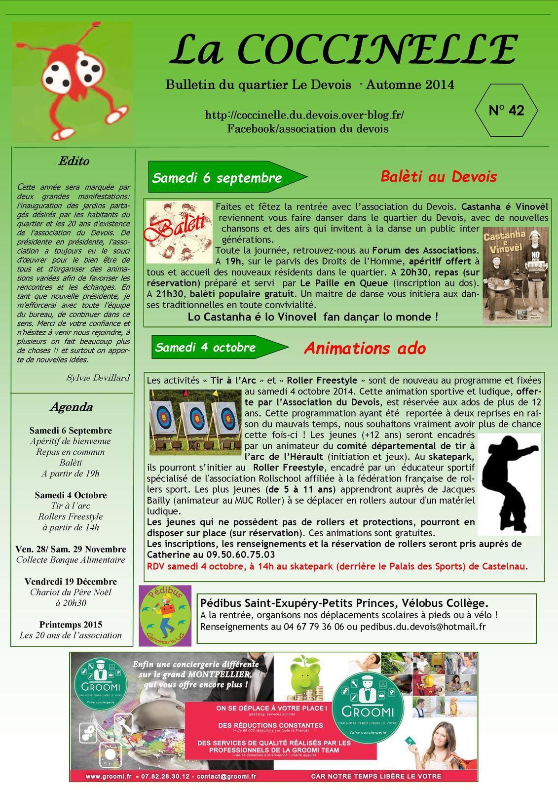 Bulletin N°42 - Automne 2014