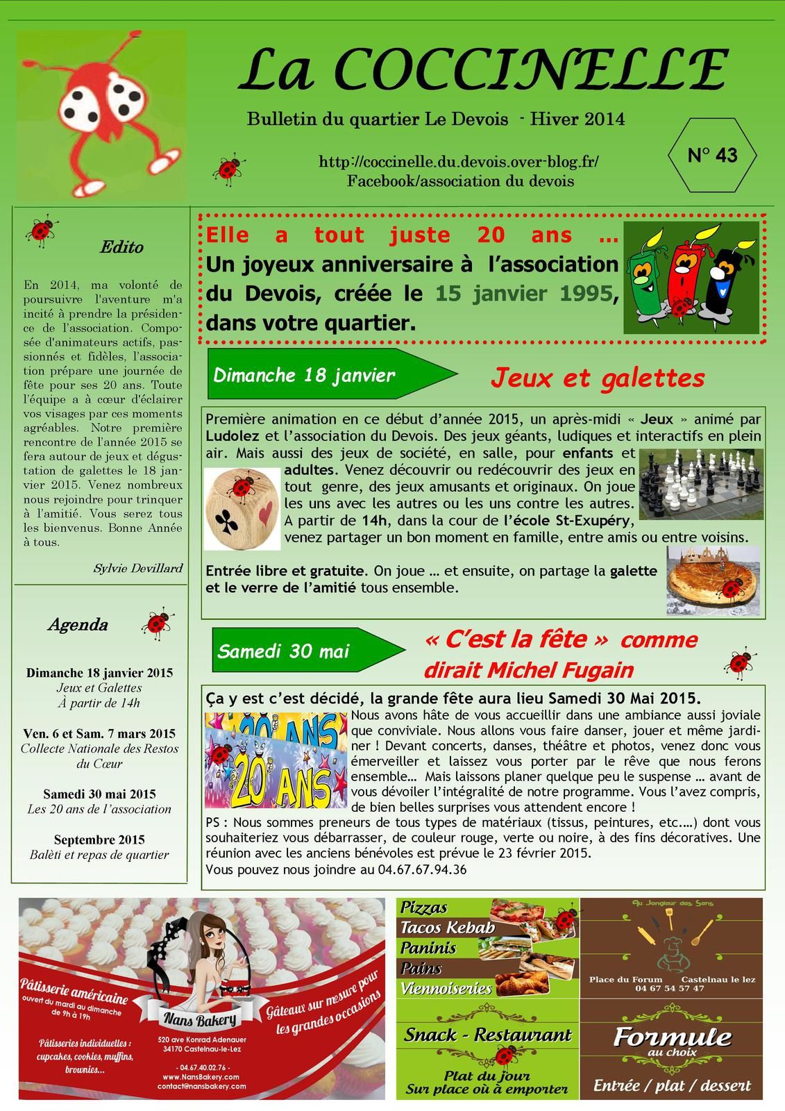 Bulletin N°43 - Hiver 2014