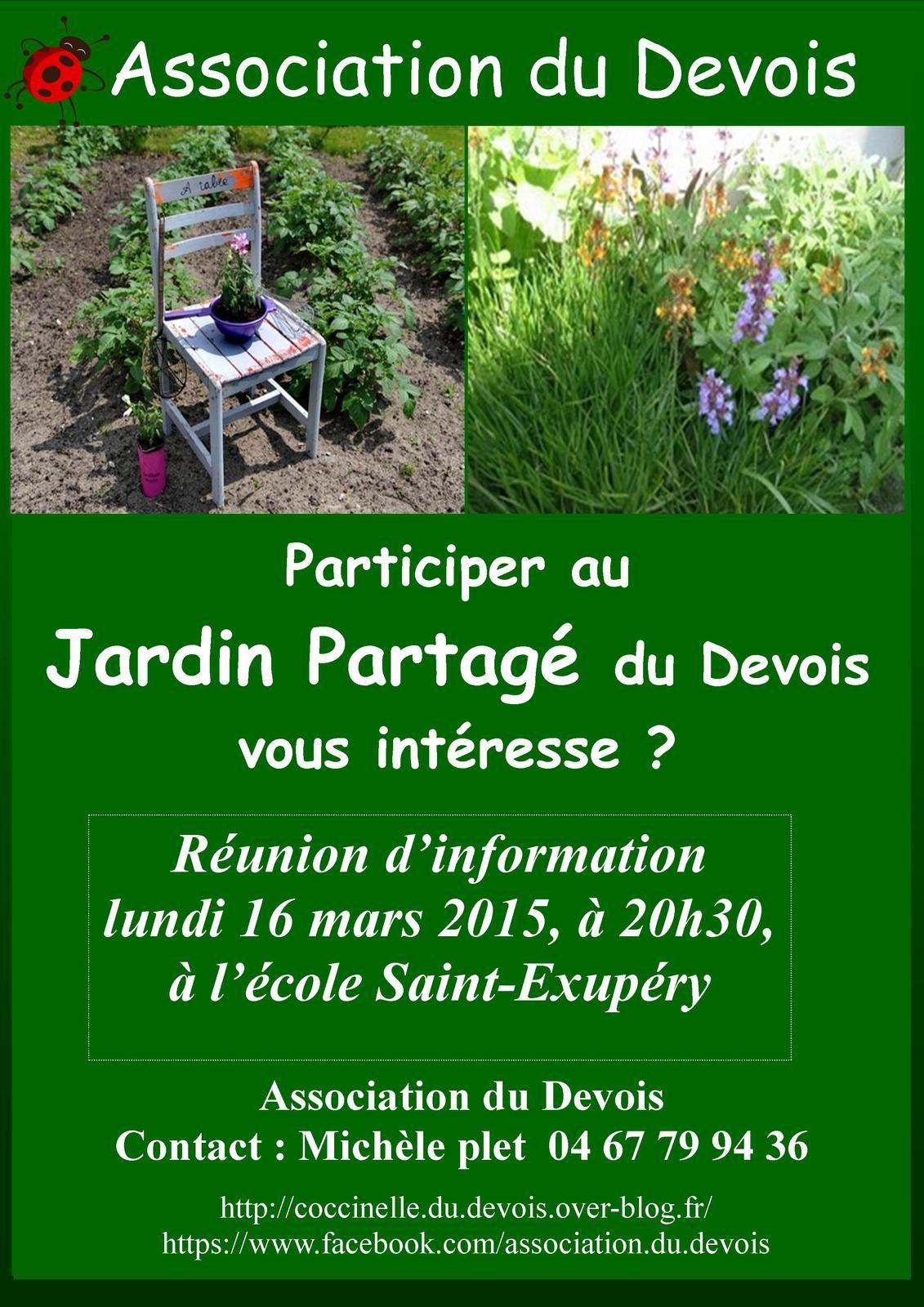 Jardin partagé du Devois - Réunion le 16 mars 2015