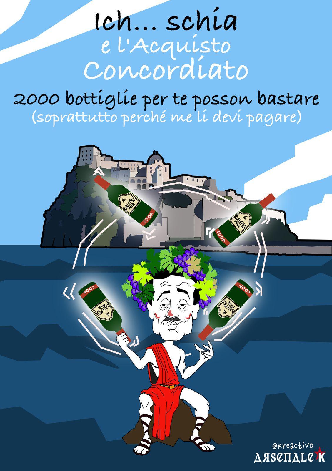 Il di vino D'Alema e lo scoglio ischitano della Concordia