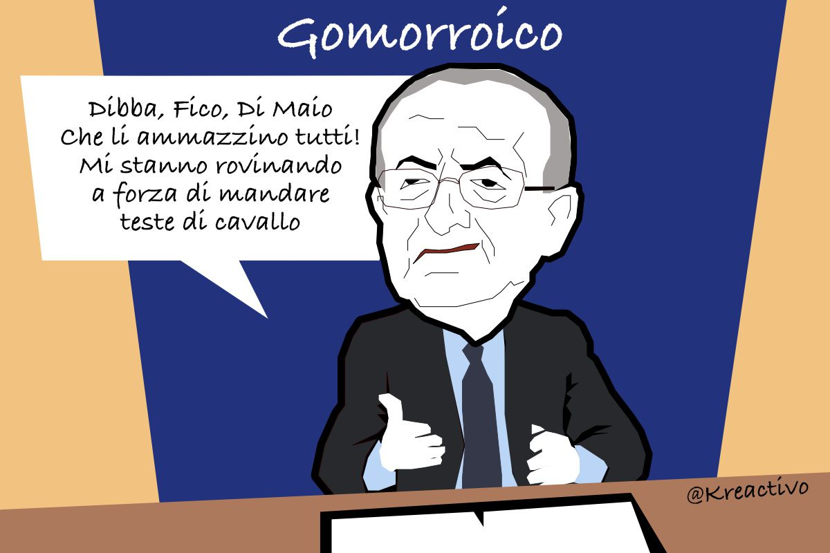 Gomorroici: De Luca incontenibile
