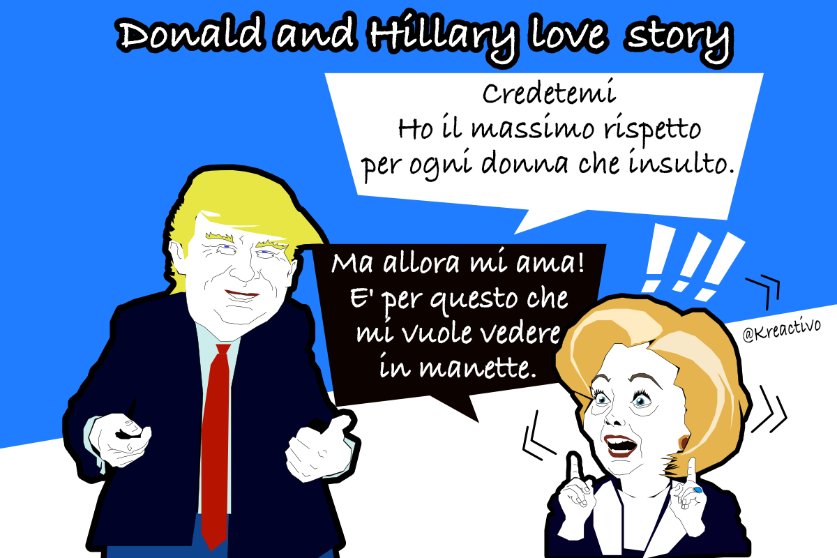 Trump vs Clinton love story