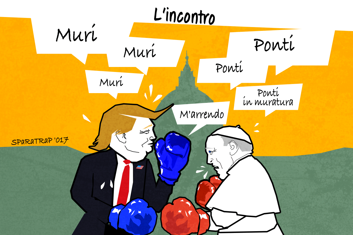 Trump vs Papa Francesco