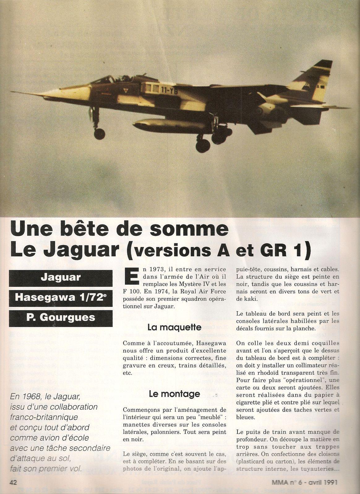 JAGUAR versions A et GR 1