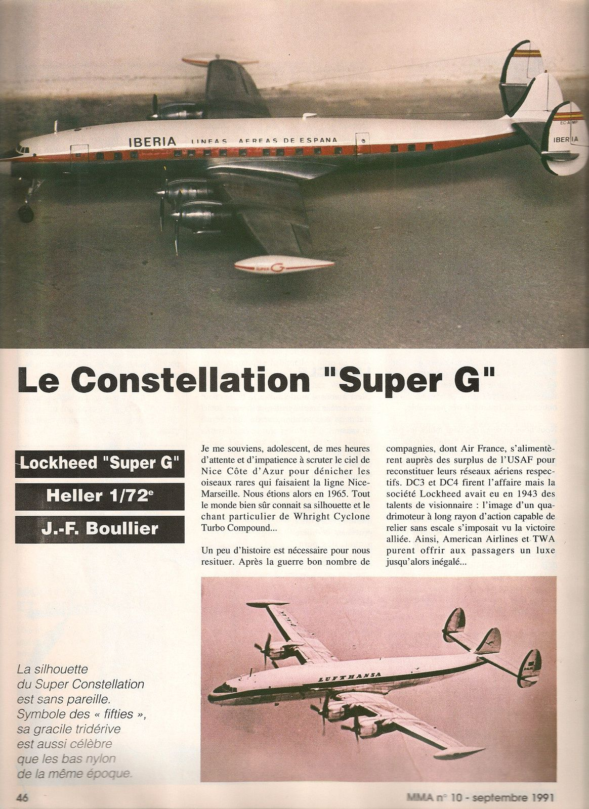 Lockheed constellation super G