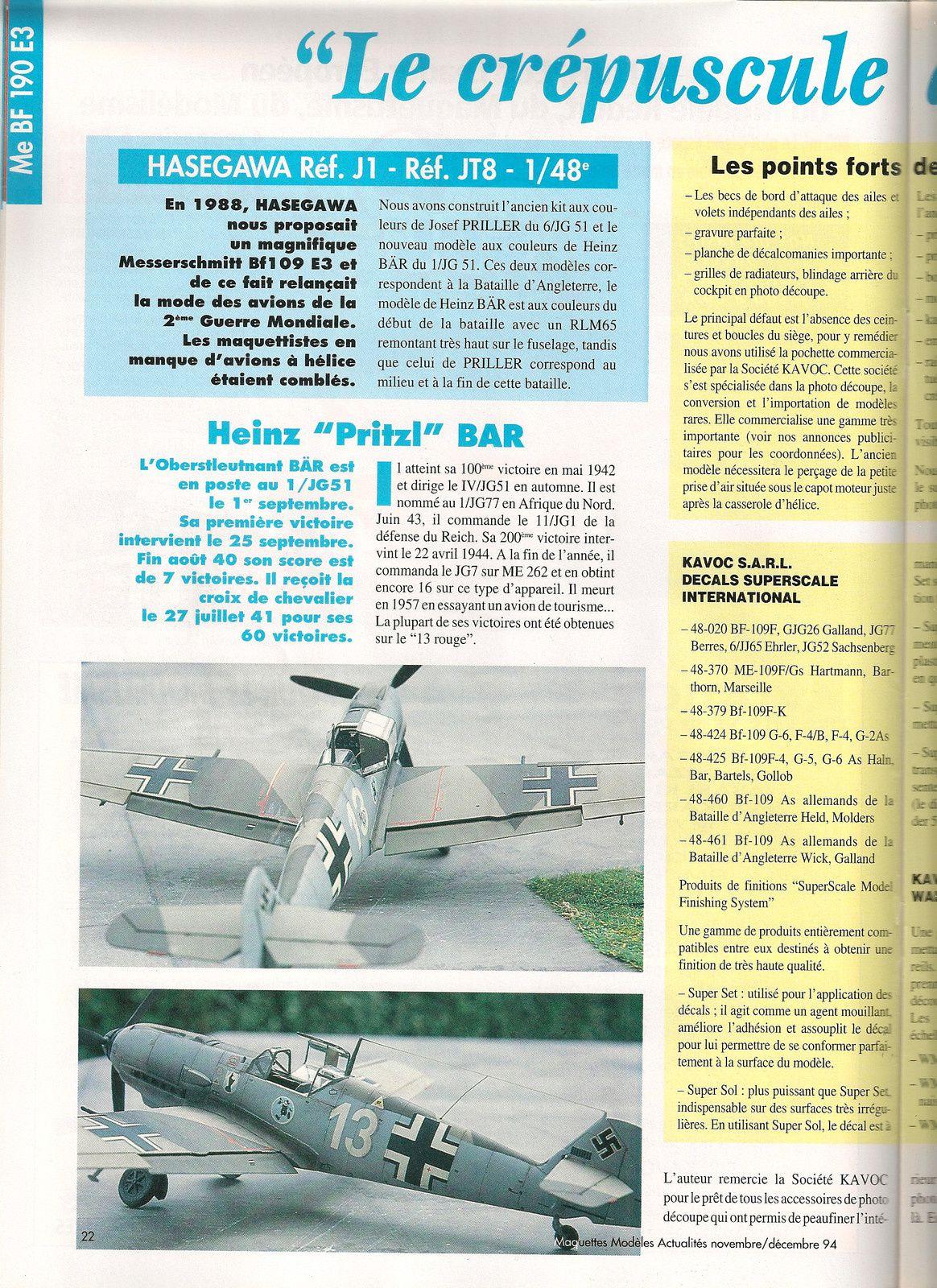 Messerchmitt  bf 109 E3