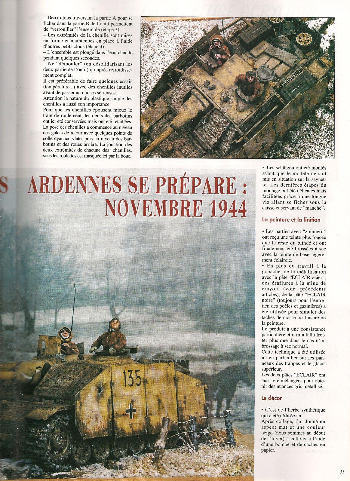 l'Offensive des Ardennes se prépare Novembre 1944