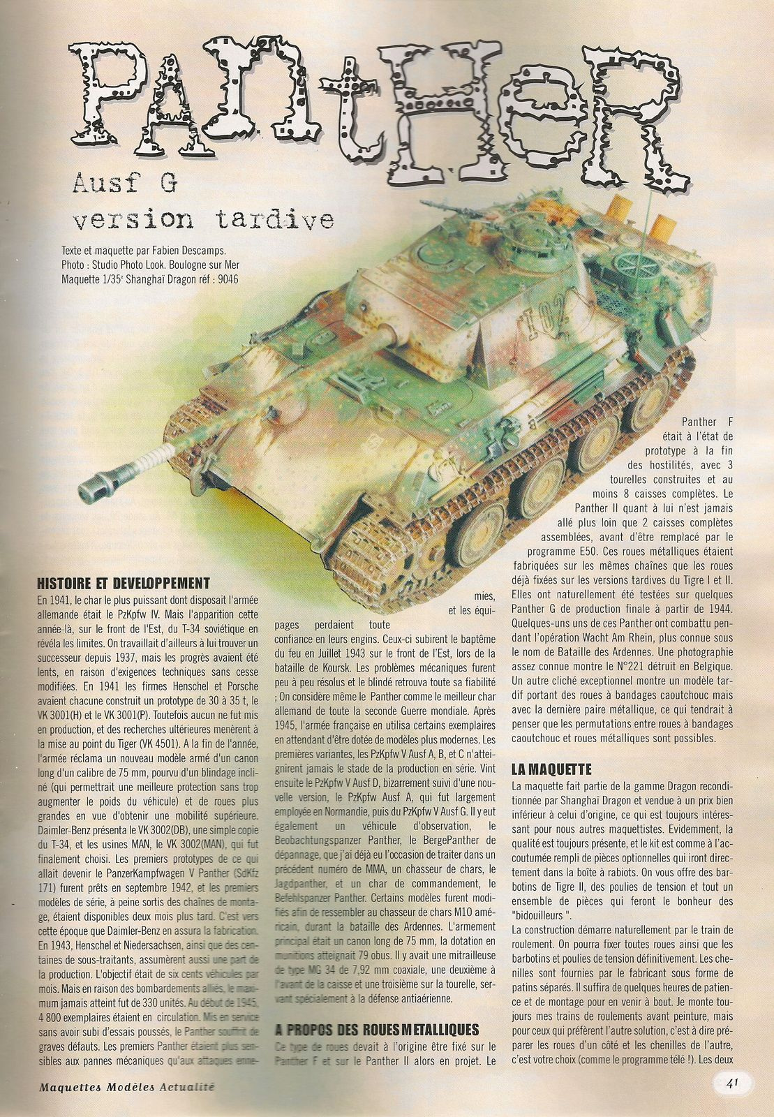 Panther Ausf G version tardive
